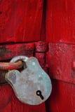 古色古香的挂锁 图库摄影