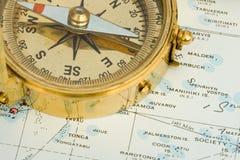 古色古香的指南针 库存图片