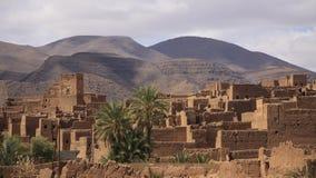 古色古香的摩洛哥人Kasbah Tamnugalt 免版税库存图片