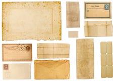 古色古香的收集纸张 免版税图库摄影