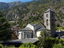 古色古香的教会在安道尔 免版税库存照片