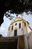 古色古香的教会在费尔南多・迪诺罗尼亚群岛,巴西 免版税图库摄影