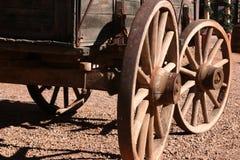 古色古香的无盖货车 图库摄影