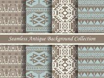 古色古香的无缝的棕色背景collection_132 免版税库存照片