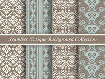 古色古香的无缝的棕色背景collection_144 免版税库存图片
