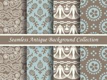 古色古香的无缝的棕色背景collection_158 免版税库存图片