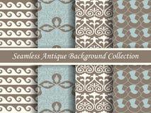 古色古香的无缝的棕色背景collection_137 免版税图库摄影