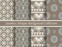 古色古香的无缝的棕色背景collection_140 免版税图库摄影