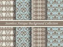 古色古香的无缝的棕色背景collection_152 免版税库存图片