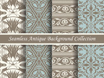 古色古香的无缝的棕色背景collection_162 免版税库存图片