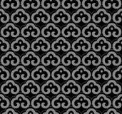 古色古香的无缝的背景东方曲线螺旋十字架框架ch 免版税库存照片