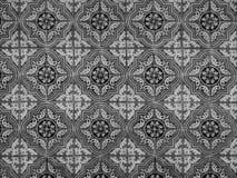 古色古香的无缝的葡萄牙瓦片样式 免版税库存图片
