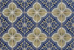 古色古香的无缝的葡萄牙瓦片 免版税库存图片