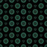 古色古香的无缝的绿色背景东方中国圆的螺旋 库存图片