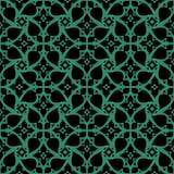 古色古香的無縫的綠色背景螺旋十字架花鞋帶 免版稅圖庫攝影圖片