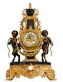 古色古香的时钟金披风 免版税库存图片