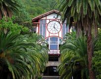 古色古香的时钟餐馆 库存图片