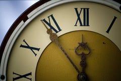 古色古香的时钟 图库摄影