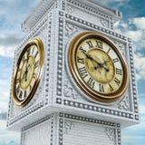 古色古香的时钟 3d例证 免版税库存图片