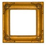古色古香的明亮的框架金子 库存照片
