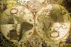 古色古香的映射世界 免版税库存照片