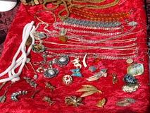 古色古香的显示珠宝 库存图片