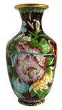 古色古香的景泰蓝制花瓶 免版税库存照片