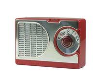 古色古香的晶体管收音机 库存照片