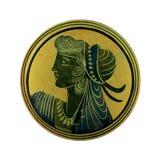 古色古香的有浮雕的贝壳希腊妇女 免版税库存照片