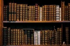 古色古香的木书架 图库摄影