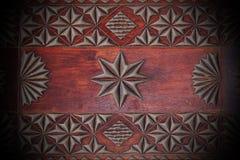 古色古香的木手工制造小箱 免版税库存照片