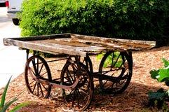 古色古香的木无盖货车,南佛罗里达 免版税图库摄影