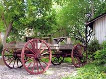 古色古香的木无盖货车,魁北克,加拿大 免版税图库摄影