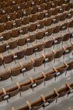 古色古香的木观众席座位角度看法2 免版税库存照片