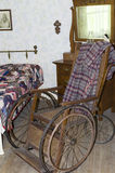 古色古香的木轮椅 库存图片