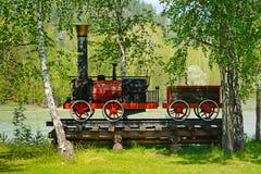 古色古香的机车的布局 免版税库存图片