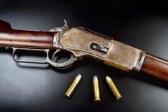 古色古香的杠杆行动步枪 库存照片