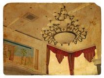 古色古香的枝形吊灯样式 免版税库存照片