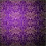 古色古香的样式背景。紫色无缝 免版税库存图片