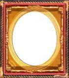 古色古香的框架金子 免版税库存图片