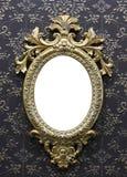 古色古香的框架金照片 免版税图库摄影