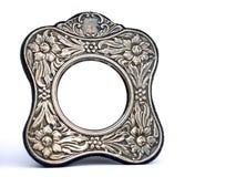 古色古香的框架银 免版税图库摄影