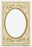 古色古香的框架长圆形 库存图片