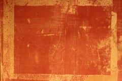 古色古香的框架grundge躺在的红色 库存照片
