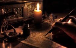 古色古香的桌面 免版税图库摄影