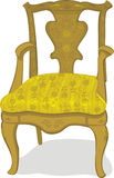 古色古香的椅子 库存例证