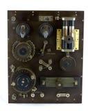 古色古香的水晶专业无线电接收机 库存照片