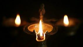 古色古香的油灯 影视素材