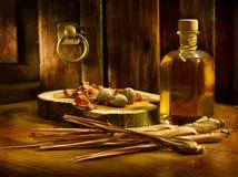 古色古香的油 免版税库存照片