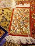 古色古香的波斯地毯在伊斯法罕,伊朗 免版税库存照片